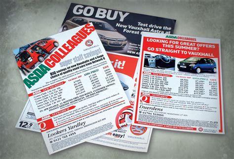 leaflet design chesterfield andrew burdett design motor dealer leaflet design company