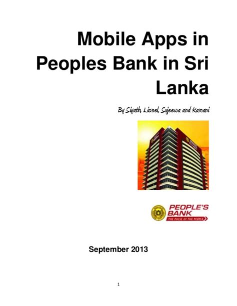 peoples bank sri lanka application of mobile apps in financial services