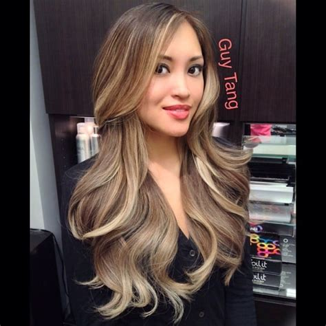 blonde asian hairstyle ash blonde ombre on asian hair no orange no stripes no