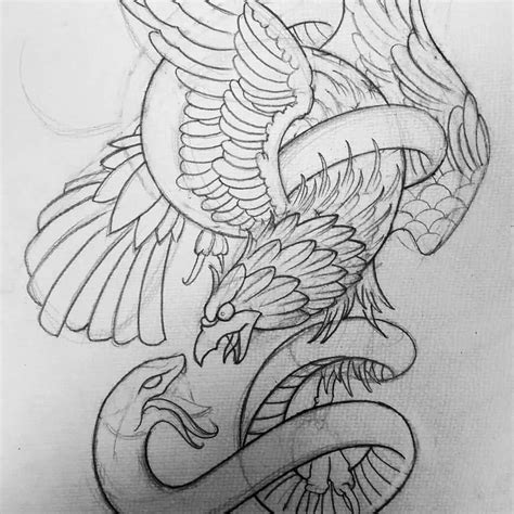 mexican eagle and snake tattoo design 45 snake and eagle tattoos collection