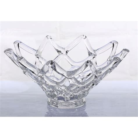 Murano Glass Bowls And Vases New 17 Quot Large Hand Blown Glass Art Web Bowl Vase Sculpture