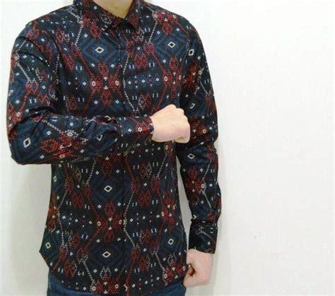 Kemeja Hem Pria Barry Blue Slim Fit model baju batik pria slim fit lengan panjang gudangnya