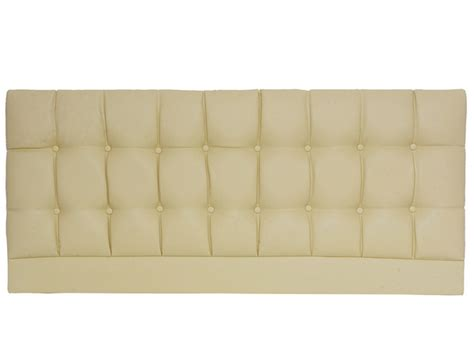Designer Saturn Cream Faux Leather Super King Size Headboard