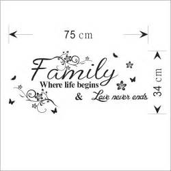 Decor Wall Stickers family slogan decorative wall sticker fashion home decor creative wall