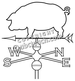 Wind Vane Coloring Pages Wind Vane Template