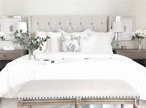 The All White Bed Style Best 20 White Bedding Ideas On White Bedding