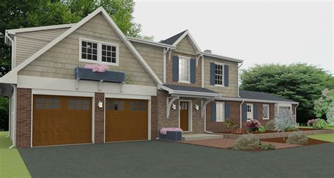 house plans with garage also breezeway detached best