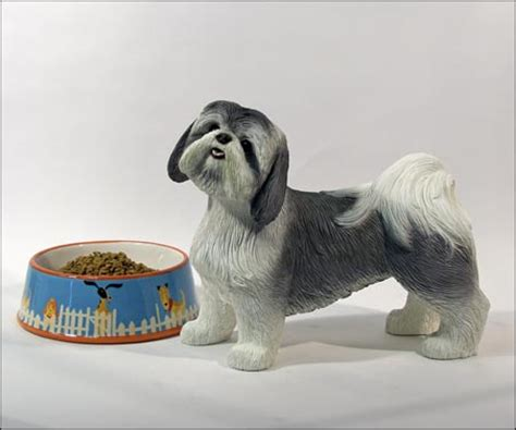 shih tzu urn black white gold white or gray white shih tzu size pet memorial urn