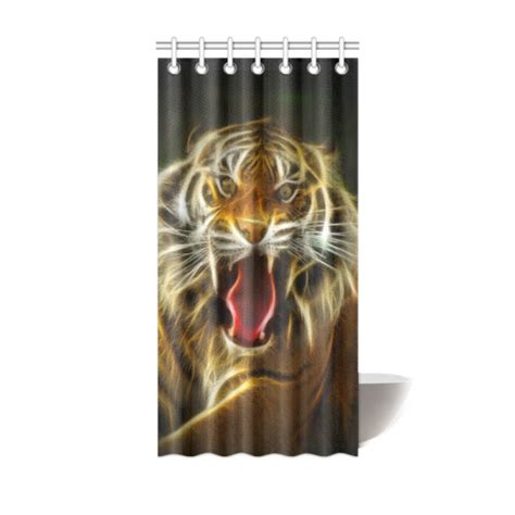 tiger shower curtain tiger electrified shower curtain 36 quot x72 quot id d49296