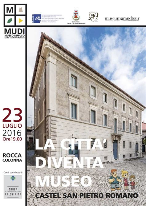 credito cooperativo palestrina inaugurazione mudi museo diffuso castel san pietro romano