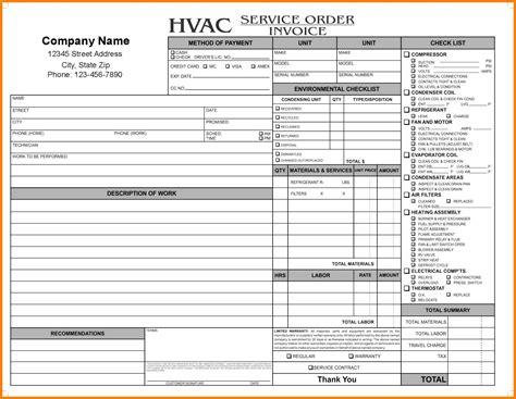 hvac service order invoice template 9 hvac invoice template g unitrecors