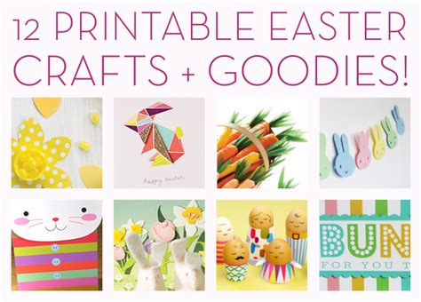printable paper easter crafts freebie alert 12 printable easter crafts and goodies