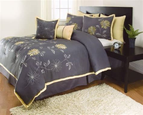 grey bed in a bag 8 pieces renee sunshine yellow grey comforter sunflower