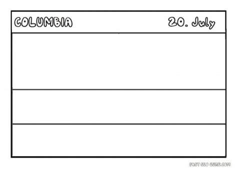 Columbia Flag Coloring Page Printable Flag Of Columbia Coloring Page Printable by Columbia Flag Coloring Page