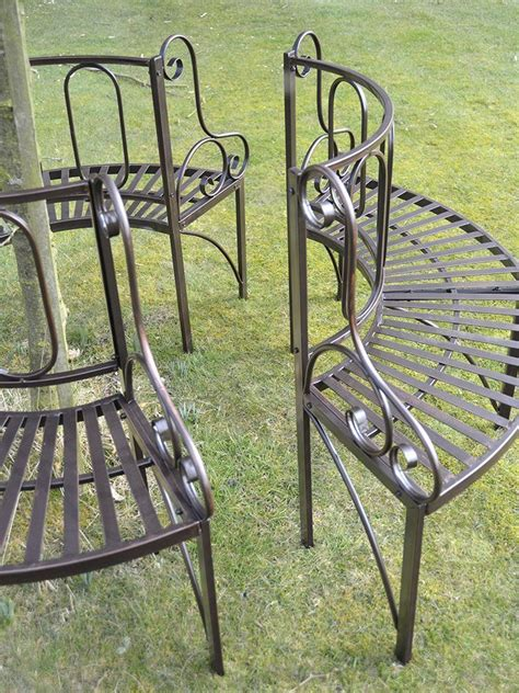 metal circular tree bench garden furniture antique bronze metal tree seat ornate