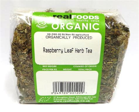 White Tea Herbal 25gr organic raspberry leaf herb tea from real foods buy bulk