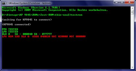 computer ram memory test using the 9845 test rom