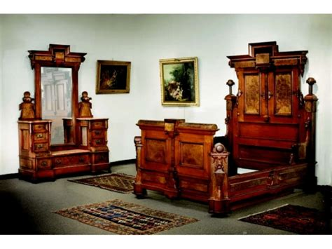 renaissance bedroom set american renaissance revival walnut bedroom set a 640586