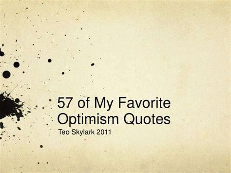 optimistic quotes optimism quotes