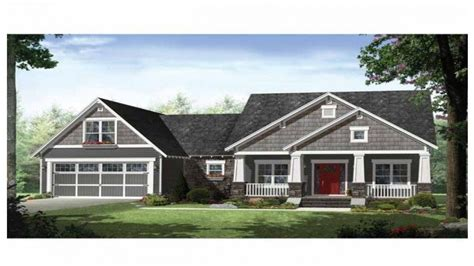 craftsman style ranch house plans with porches rustic