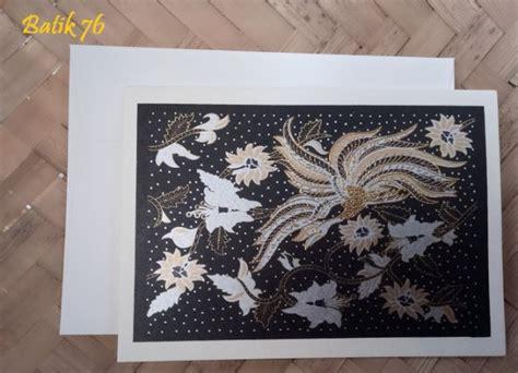 Kartu Ucapan Motif Batik jual kartu ucapan premium batik motif silver size m kartu ucapan batik kartu ucapan
