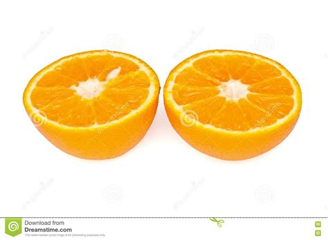 Half Half by Cut In Half An Orange Royalty Free Stock Image Image