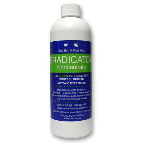 eradicator bed bug spray elf brands bed bug and dust mite eradicator 16 fl oz