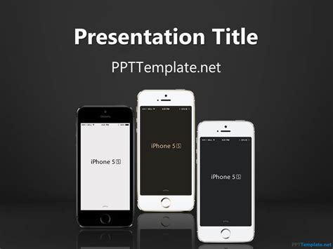 powerpoint iphone template free iphone ppt template