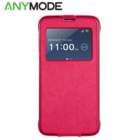 Anymode S View Cover For Samsung Galaxy S5 G900 Original anymode samsung galaxy s5 view cradle met kabel roze