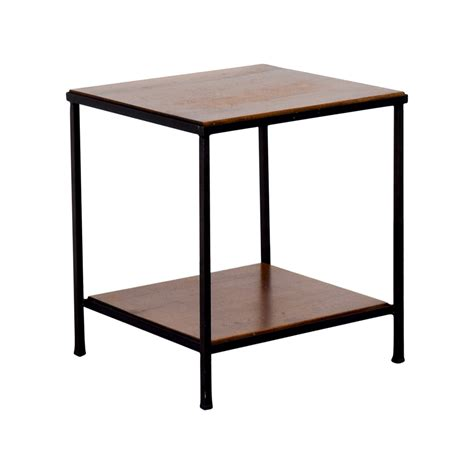 wood and metal side table 71 pottery barn pottery barn wood and metal side