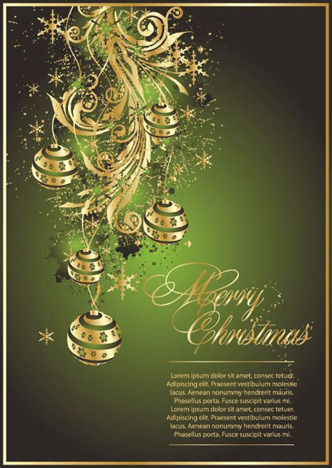 exquisite christmas cards   ai   vector