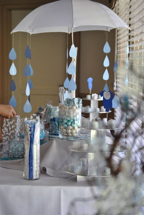 Baby Shower Umbrella Blue Candy Bar Winter Themed Baby Baby Shower Umbrella Centerpieces