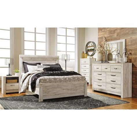 ashley furniture ind bedroom sets  piece bellaby whitewash queen bedroom collection