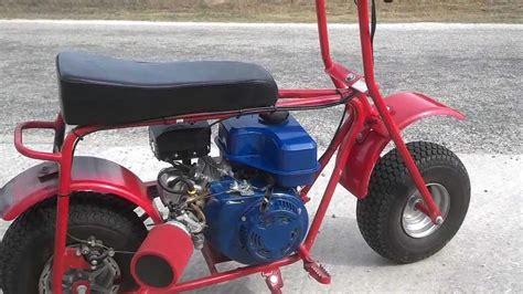 how to start a doodle bug mini bike custom modified baja doodle bug mini bike