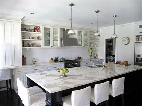 kitchen island instead of table calcutta marble table island kitchen pinterest