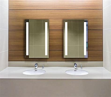 rectangle bathroom wall mirror with lighted frame of lighted led frameless backlit wall mirror polished edge