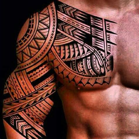 chest arm tattoos for men 48 coolest polynesian designs