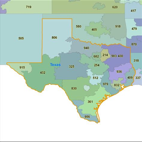 texas area code map texas area code map images