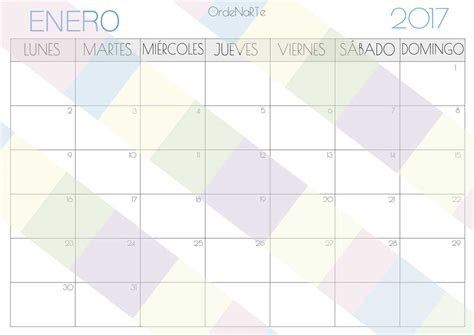 Calendario 2017 Meses Planificador Por Meses Descargable 2017 Para Una Buena