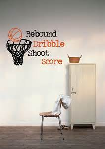 Basketball Wall Mural basketball hoop vinyl wall decal bsk535