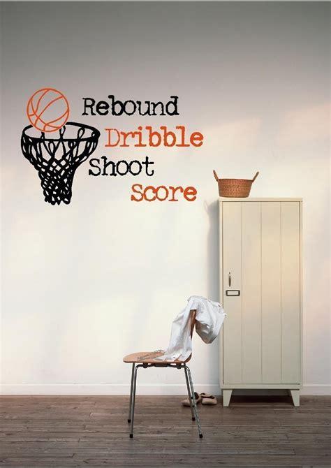 basketball wall mural basketball hoop vinyl wall decal bsk535