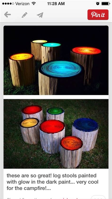 glow in the paint yard ideas outdoor awesomeness paint logs with glow in the