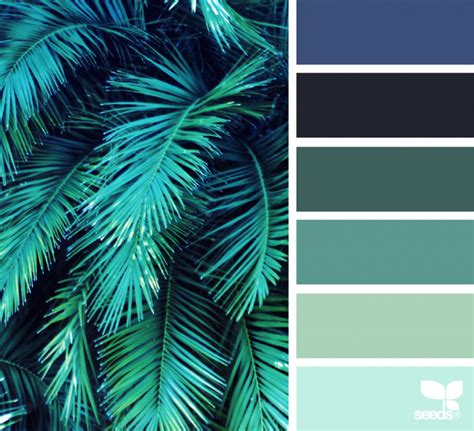 farbpalette petrol color frond fresh hues yes i do