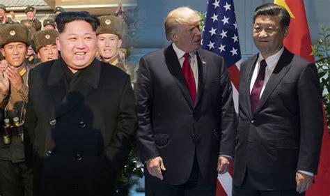 trump china north korea north korea war threat china would stop us missile strike