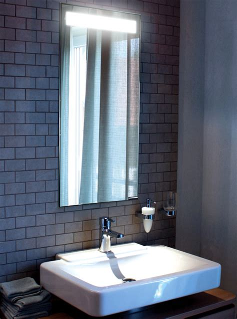 bathroom mirror built in light mirror with hidden light interior design inspiration