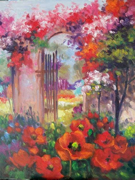 103 Best Garden Paintings Images On Pinterest Forests Flower Garden Paintings