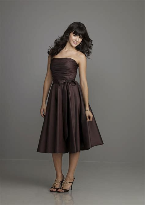 Brown Dress looking slim with brown bridesmaid dresses cherry