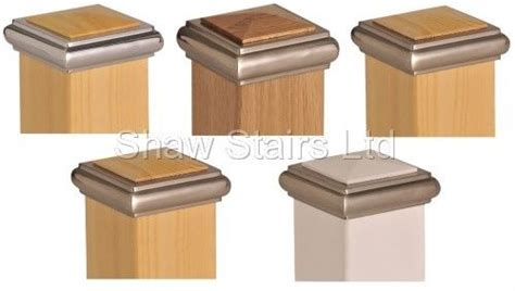 banister post caps details about axxy stair post caps half