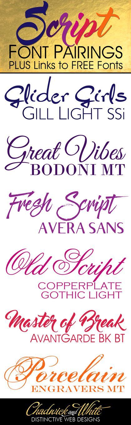 free script fonts and how to pair them with other fonts - Decorative Font Pairing