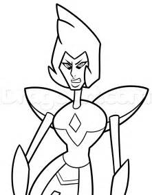 Drawing Yellow Diamond From Steven Universe Step By Cartoon  sketch template